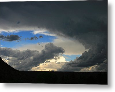 Hole In The Storm Metal Print