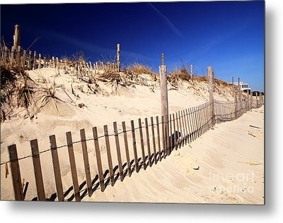 Metal Print featuring the photograph Holgate Dune Fence by John Rizzuto