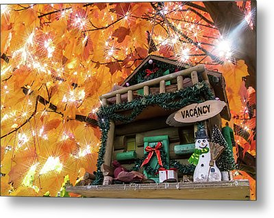 Holiday Birdhouse Metal Print by Mick Anderson