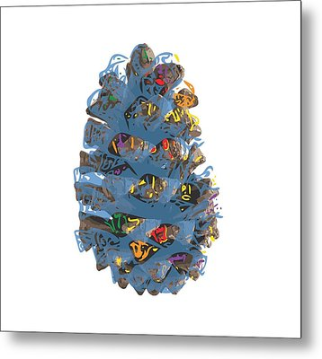 Holiday Blue Cone Metal Print by Stan  Magnan
