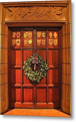 Holiday Door Metal Print