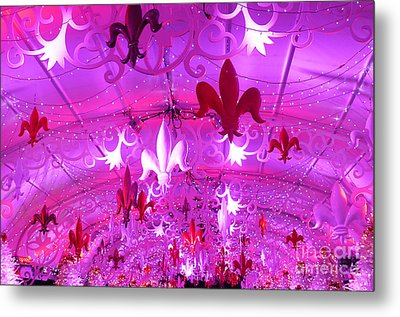 Metal Print featuring the photograph Holiday Fleur De Lis by Jeanne  Woods