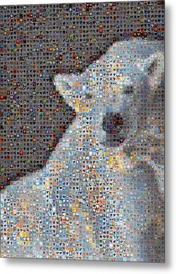 Holiday Hearts Polar Bear Number Two Metal Print by Boy Sees Hearts