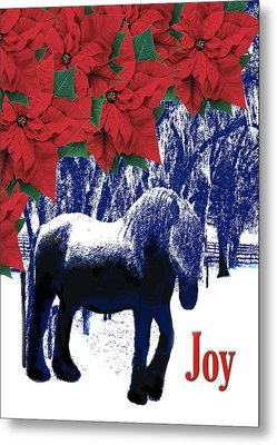 Holiday Joy Card Metal Print by Adele Moscaritolo
