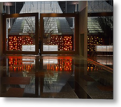 Metal Print featuring the photograph Holiday Reflections by Ron Dubin