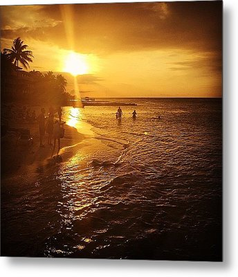 #holidayinresortjamaica Metal Print by Tammy Wetzel