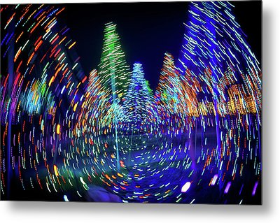 Holidays Aglow Metal Print by Rick Berk