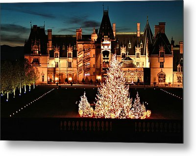 Holidays At Biltmore House Metal Print