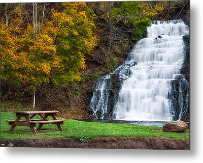 Metal Print featuring the photograph Holley Canal Falls by Mark Papke
