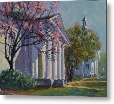 Hollis Social Library In Spring Metal Print