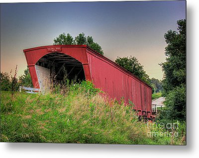Holliwell Covered Bridge Metal Print by Thomas Danilovich