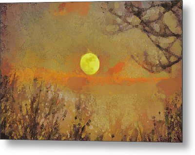 Metal Print featuring the mixed media Hollow's Eve by Trish Tritz