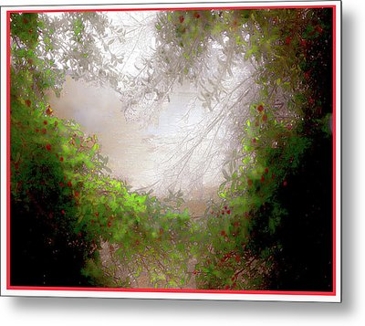 Metal Print featuring the photograph Holly Heart by Bonnie Willis