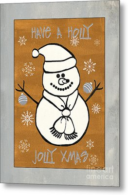 Holly Holly Xmas Metal Print