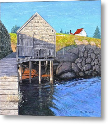 Holly Myrick's Fish House Metal Print by Paul Breeden