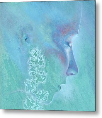 Metal Print featuring the painting Hollyhock by Ragen Mendenhall
