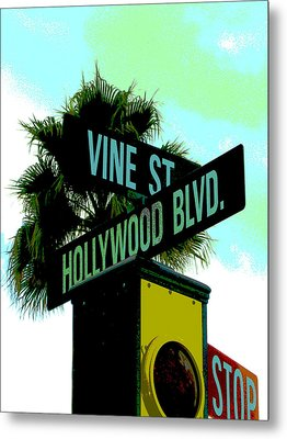 Hollywood And Vine Metal Print by Audrey Venute