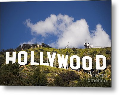 Hollywood Sign Metal Print by Anthony Citro