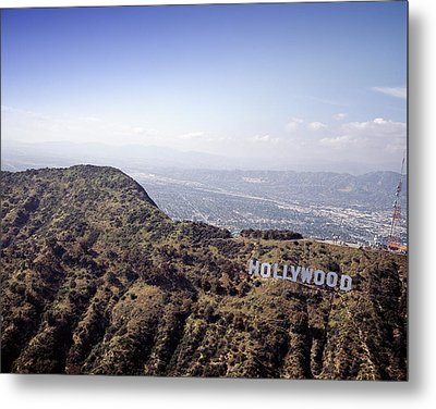 Hollywood Sign, Built Ca. 1923 By Mack Metal Print by Everett
