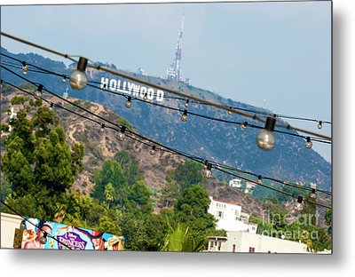 Metal Print featuring the photograph Hollywood Sign On The Hill 1 by Micah May