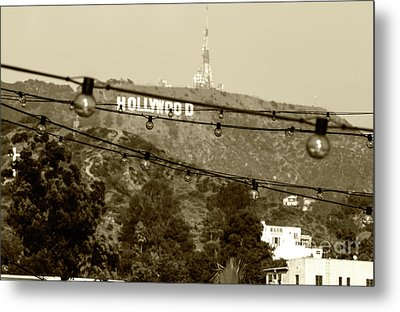 Metal Print featuring the photograph Hollywood Sign On The Hill 4 by Micah May