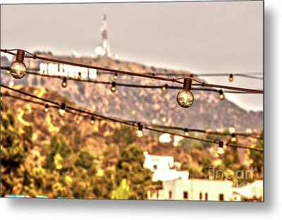 Metal Print featuring the photograph Hollywood Sign On The Hill 6 by Micah May
