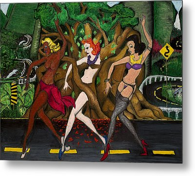 Holo Holo Haolies On Hana Hwy Metal Print by Billy Knows