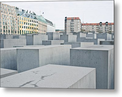 Holocaust Memorial Metal Print by Tom Gowanlock