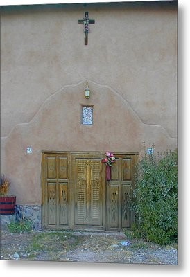 Holy Door Metal Print by Joseph R Luciano