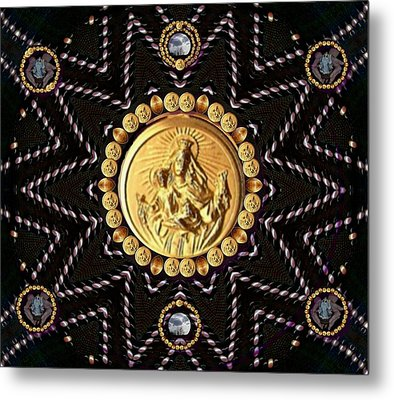 Holy Madonna Mary Mother Of Jesus And Blessed Virgin Mary Metal Print by Pepita Selles