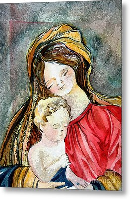 Holy Mother And Child Metal Print by Mindy Newman