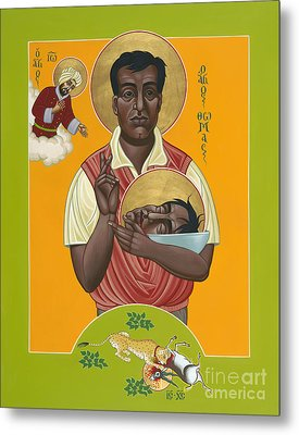 Holy New Martyr Thomas Anchanikal With St John De Brito 153 Metal Print by William Hart McNichols