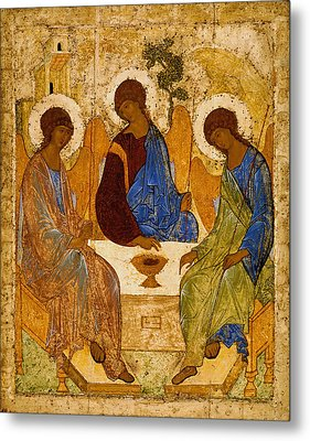 Holy Trinity. Troitsa Metal Print by Andrei Rublev