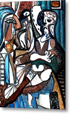 Homage To Digital Picasso Metal Print