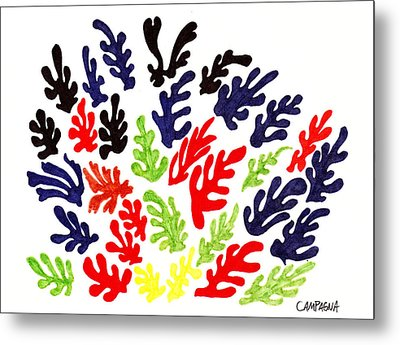 Homage To Matisse Metal Print by Teddy Campagna