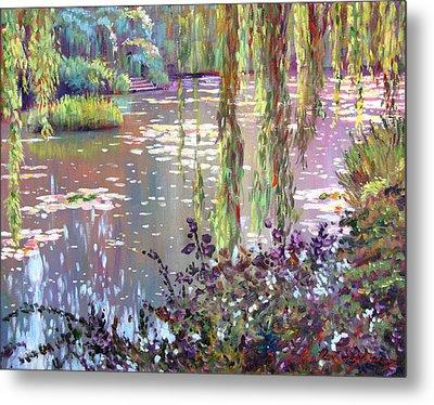 Homage To Monet Metal Print by David Lloyd Glover