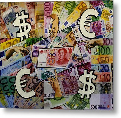 Homage To Money - And Man Created Money  Metal Print