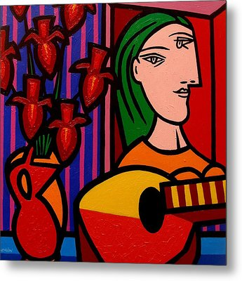 Homage To Picasso Metal Print by John  Nolan