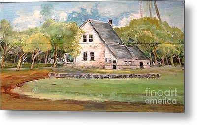 Metal Print featuring the painting Home Again by Linda Shackelford