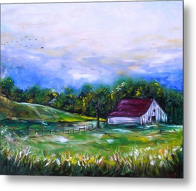 Metal Print featuring the painting Home by Emery Franklin