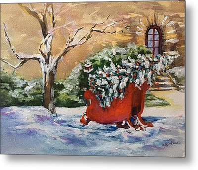 Home For Christmas Metal Print by Donna Pierce-Clark
