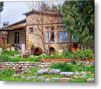 Metal Print featuring the photograph Home In Greece by Roberta Byram