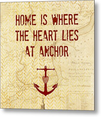 Home Is Philadelphia Anchor Metal Print