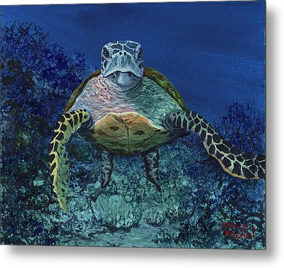Metal Print featuring the painting Home Of The Honu by Darice Machel McGuire
