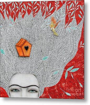 Home On My Mind Metal Print by Natalie Briney
