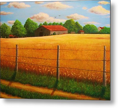 Home On The Farm Metal Print by Gene Gregory