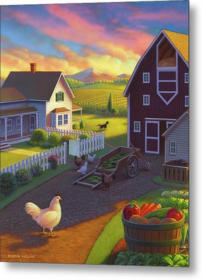 Home On The Farm Metal Print by Robin Moline