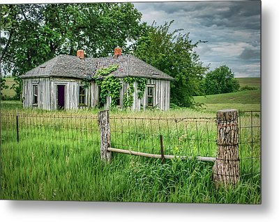 Home Place - Farmhouse - Kansas Metal Print