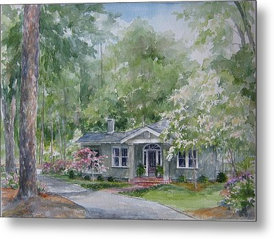 Metal Print featuring the painting Home Portrait by Gloria Turner