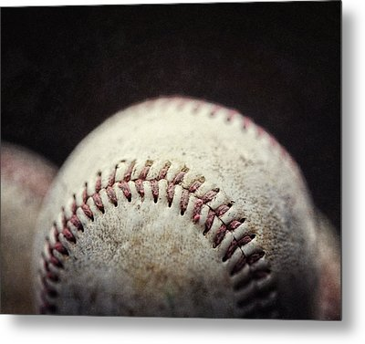 Home Run Ball Metal Print by Lisa Russo